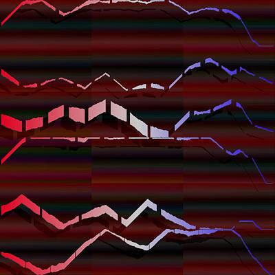Purple Digital Art - 2048.1.3 by Gareth Lewis
