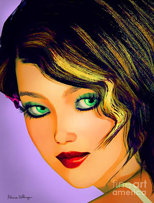 Mixed Media - 20's Girl Pop by Alicia Hollinger