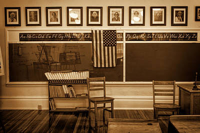 Photograph - 20th-century Classroom 2 by Lewis Mann