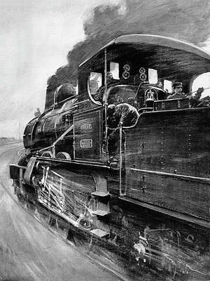 20th Century Train And Drivers Art Print by Cci Archives