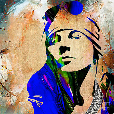 Musician Mixed Media - Axl Roxe Collection by Marvin Blaine