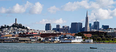 Downtown San Francisco Photograph - Buildings At The Waterfront by Panoramic Images