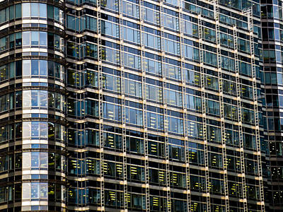 Abstract Shapes Janice Austin Royalty Free Images - Canary Wharf London Royalty-Free Image by David Pyatt