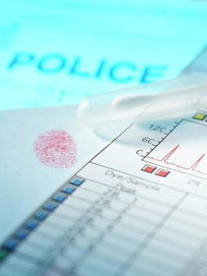 Healthcare And Medicine Photograph - Forensic Evidence by Tek Image