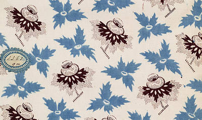 Authentic Inspiration Drawing - French Fabrics First Half Of The Nineteenth Century 1800 by Litz Collection