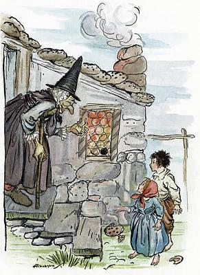 Grimm Hansel And Gretel Art Print by Granger