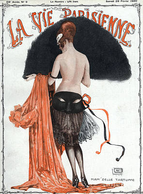 At Poster Drawing - La Vie Parisienne  1920 1920s France by The Advertising Archives