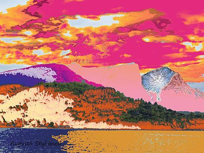 Colourfull Digital Art - Norway Landscape by Augusta Stylianou