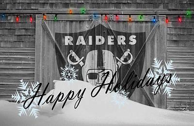 Photograph - Oakland Raiders by Joe Hamilton