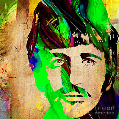 Music Mixed Media - Ringo Starr Collection by Marvin Blaine