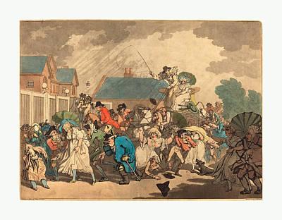 Hyde Park Drawing - Thomas Rowlandson British, 1756  1827 by English School