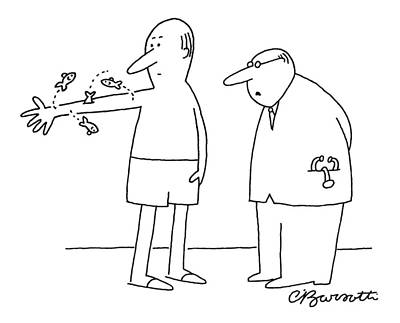 Insurance Drawing - Arm Fish - Insurance Won't Cover That by Charles Barsotti