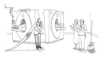 Mri Drawing - Mri Magician by Paul Noth
