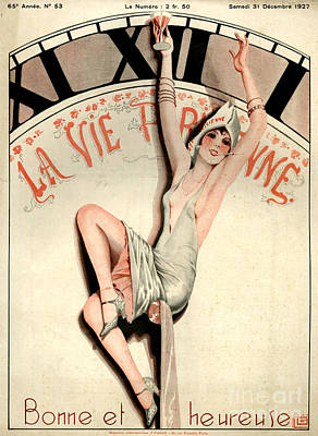 Time Magazine Drawing - 1920s France La Vie Parisienne Magazine by The Advertising Archives