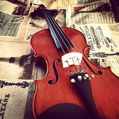 Music Photograph - Acoustic Violin by Sarah Field