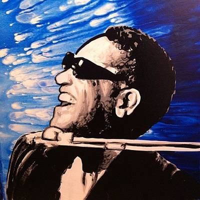 Jazz Wall Art - Photograph - 21x27 Ray Charles Original Painting by Ocean Clark