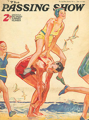 Leap Frog Drawing - 1930s,uk,the Passing Show,magazine Cover by The Advertising Archives