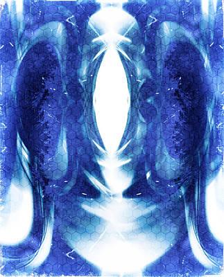 Blue Abstract Art Print by Modern Art Prints