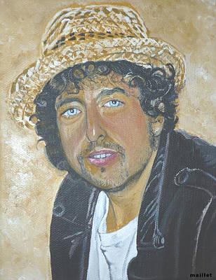 Bob Dylan Art Print by Laurette Maillet