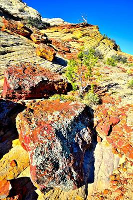 Photograph - Boulder-notom Road Rocks by Ray Mathis