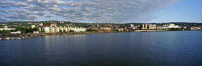 Duluth Photograph - Buildings At The Waterfront, Lake by Panoramic Images