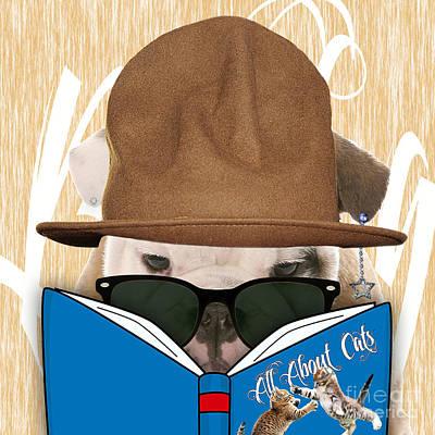 Bulldog Mixed Media - Bulldog Collection by Marvin Blaine