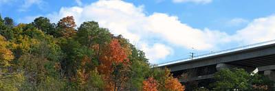Mixed Media - Canadian Fall Season Colors Oakville Ontario Lyon Ridge Trail River Stream Picknic Spot Bird Watch C by Navin Joshi