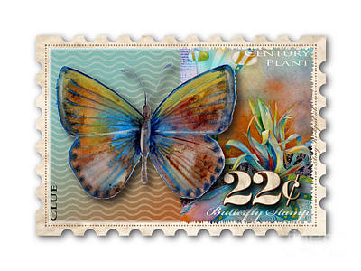Painting - 22 Cent Butterfly Stamp by Amy Kirkpatrick