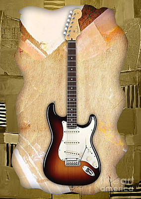 Fender Mixed Media - Fender Stratocaster Collection by Marvin Blaine