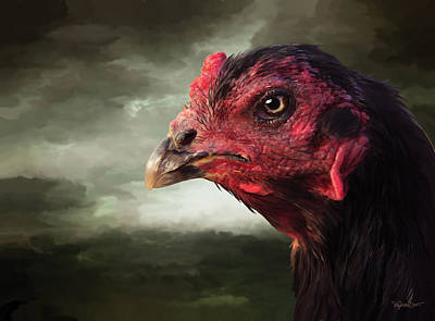 Digital Art - 22. Game Hen by Sigrid Van Dort