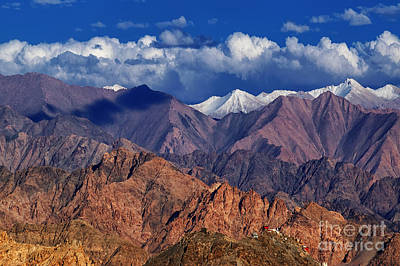 Valley Photograph - Landscape Of Ladakh Jammu And Kashmir India by Rudra Narayan  Mitra