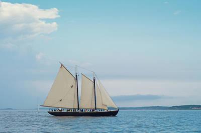 Gloucester Photograph - Massachusetts, Gloucester, Schooner by Walter Bibikow