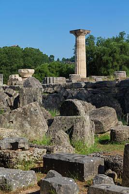 Zeus Photograph - Olympia, Greece by Ken Welsh