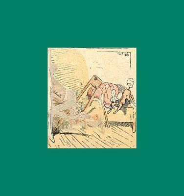 Joke Drawing - Schnaken And Schnurren, 1866 by Busch, Wilhelm (1832-1908), German