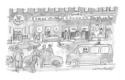 Brothel Drawing - New Yorker March 31st, 2008 by Michael Crawford