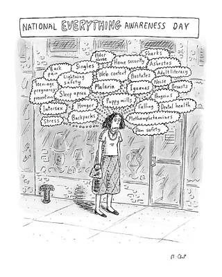Information Drawing - New Yorker September 3rd, 2007 by Roz Chast