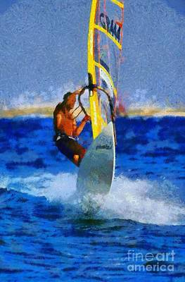 Action Painting - Windsurfing by George Atsametakis