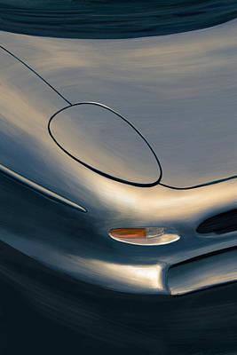 Jaguar Xj220 Painting - 220 Mph by Bartosz Garlinski