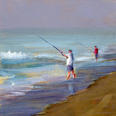 Fishing Painting - Rcnpaintings.com by Chris N Rohrbach