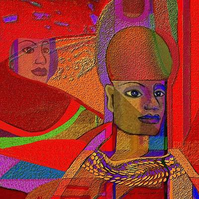 Sphinx Digital Art - 222 - Modern Sphinx Red   by Irmgard Schoendorf Welch