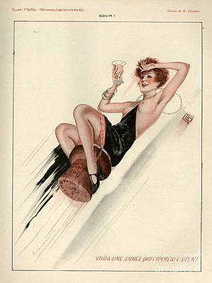 Cocktails Drawing - 1920s France La Vie Parisienne Magazine by The Advertising Archives