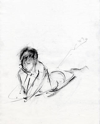 Figure Drawing Drawing - Rcnpaintings.com by Chris N Rohrbach