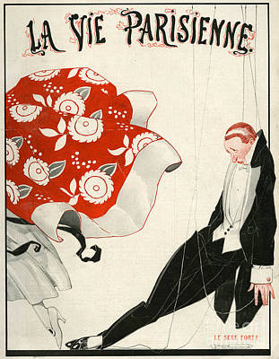 Vincent Drawing - 1920s France La Vie Parisienne Magazine by The Advertising Archives