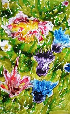 Heavenly Flowers Art Print by Baljit Chadha