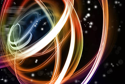 Cosmo Digital Art - Abstract Background by Les Cunliffe