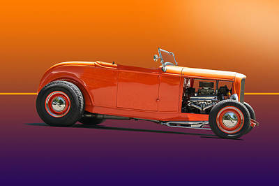 Science Tees Rights Managed Images - 1932 Ford Roadster Royalty-Free Image by Dave Koontz