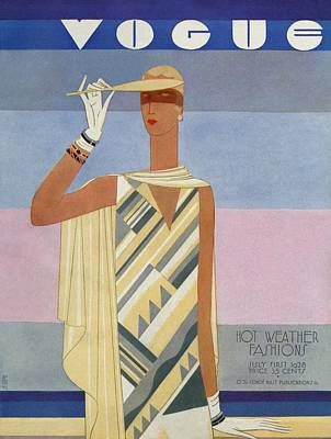 African-american Photograph - A Vintage Vogue Magazine Cover Of A Woman by Eduardo Garcia Benito