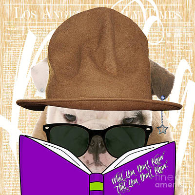 English Mixed Media - Bulldog Collection by Marvin Blaine