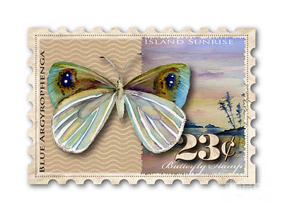 Painting - 23 Cent Butterfly Stamp by Amy Kirkpatrick