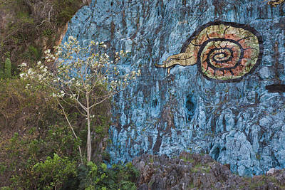 Mural Photograph - Cuba, Pinar Del Rio Province, Vinales by Walter Bibikow